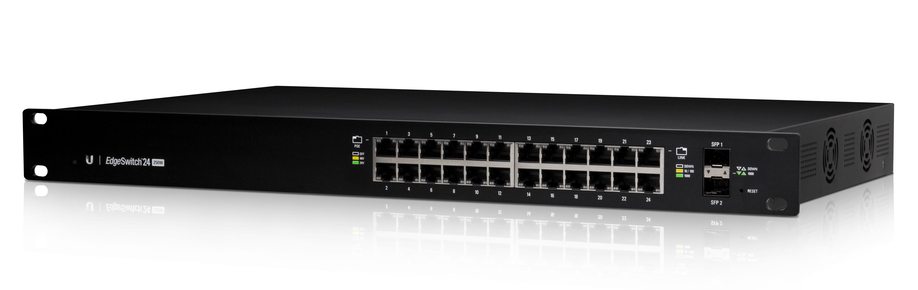 UBNT Edge Switch 24 Port 250W PoE+ Layer3 Yönetilebilir Switch