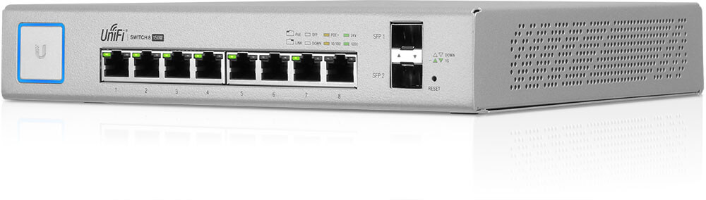 UBNT UniFi US-8-150W - UBNT UniFi Switch 8 Port 150W PoE+ Layer3 Yönetilebilir Switch - US-8-150W