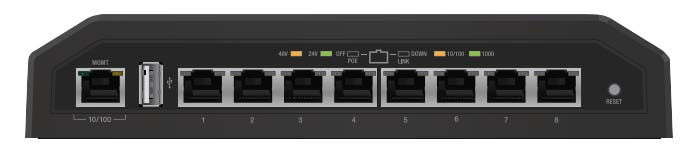 UBNT ToughSwitch PRO 8 Port Gigabit 24/48V PoE Switch